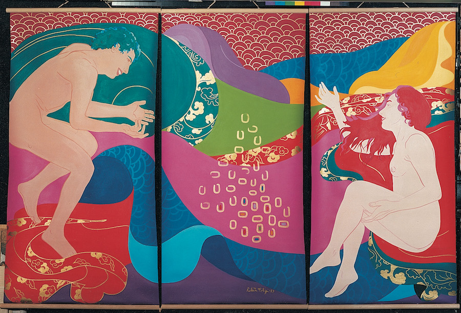 Maestro d'amore<br>acrilico su tela Kakemono<br>cm 160 x 180