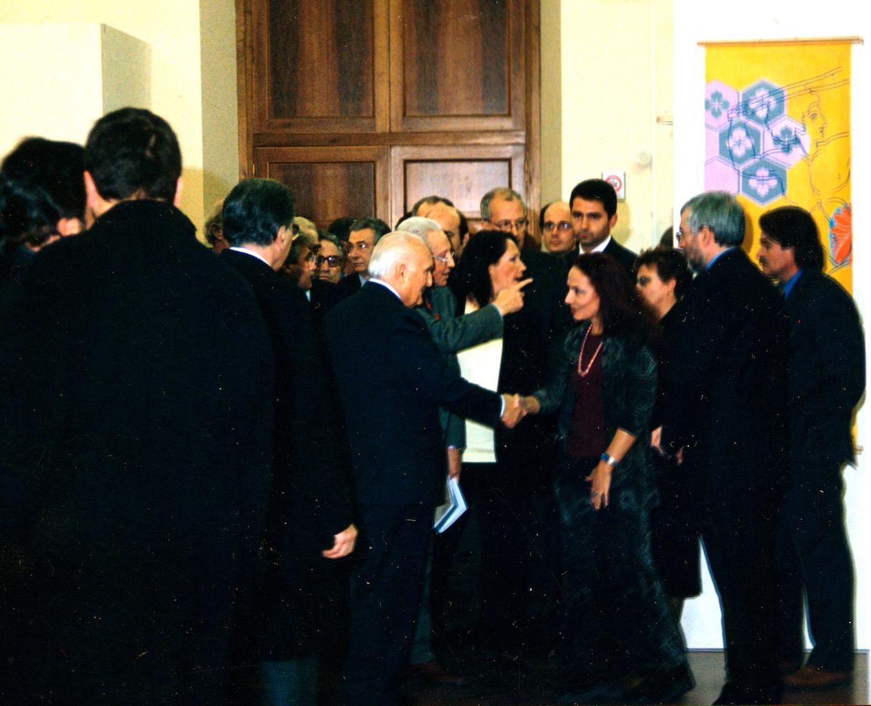 Con il presidente Scalfaro e E. Crispolti